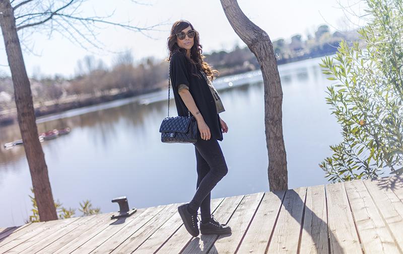 street style barbara crespo kimono jacket wild love hakei tshirt laguna de las madres madrid fashion blogger outfit blog de moda