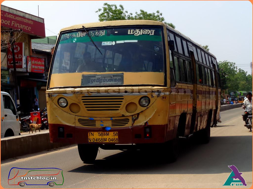 TN-58N-0468 of Sattur Depot Route Sattur - Kovilpatti Via Okkaiyaal, Ezhayarampannai.