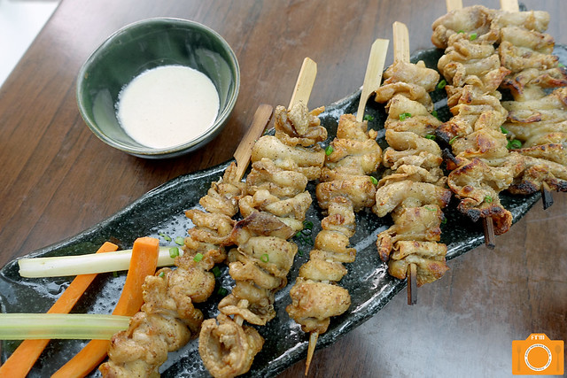 Yumi chicken skin skewers
