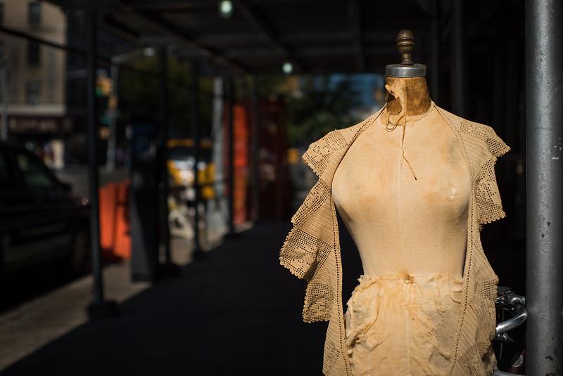 mannequin on a New York city sidewalk