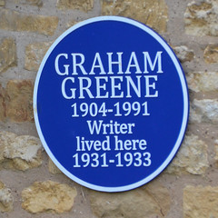 Photo of Graham Greene blue plaque