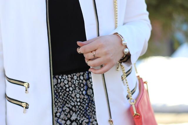 Printed Pants & White Coat   Work Wear   #LivingAfterMidnite