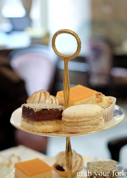 Salted caramel macaron at The Palace Tea Room, QVB, Sydney