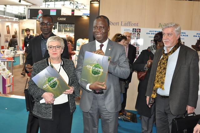 Déplacement de Maurice Bandaman ministre de la Culture de Côte d'Ivoire