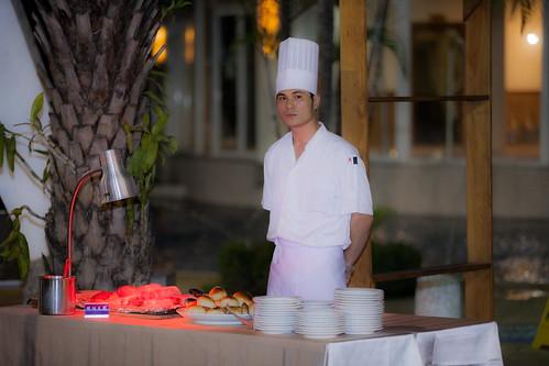 推薦婚宴場地:台南商務會館,米老鼠米奇的特殊結婚婚禮風格自助餐點區7