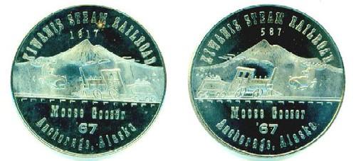 Alaska Centennial Moose Gooser Railroad medal