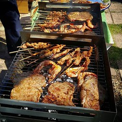 #tbt #tb to #sunday #bbq #barbeque #charcoal #ribeye #beef #prawn #seafood #mooping #pork #skewers #food #omnomnom #laofood #laoflavours #lao