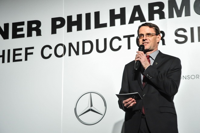 台灣賓士總裁邁爾肯先生熱烈歡迎柏林愛樂四度訪台,感謝柏林愛樂支持【Mercedes-Benz星夢想‧星天賦】開放千名彩排席次予台灣音樂學子觀摩王者風範