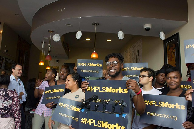 August 2015: #MplsWorks launch at Avenue Eatery