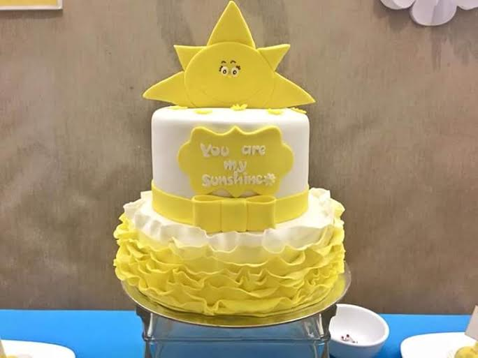 Cute Yellow Cake by Paula Go-Remegio