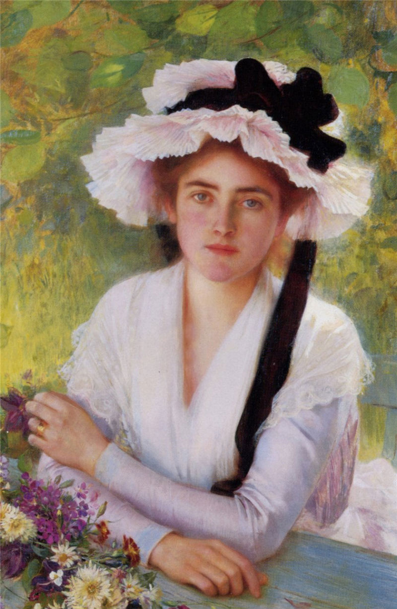 In the Garden by Albert Lynch