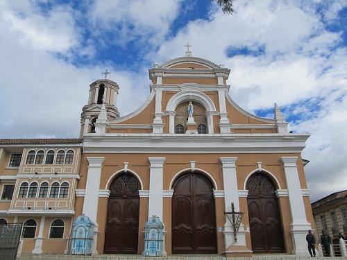 Loja: Iglesia San Sebastián ou aussi l'église de L'immaculée Conception, en l'honneur de Notre-Dame de Lourdes