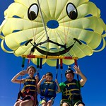 Fly your family in our Jumbo Smiley Chute.