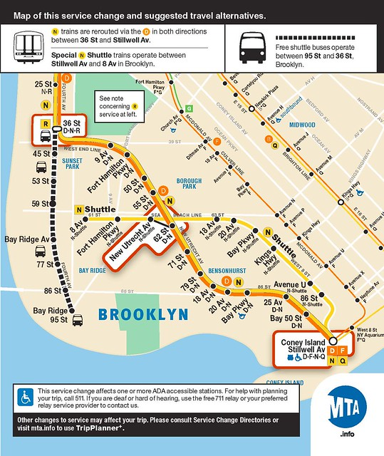 Map Fastrack Shuttle Buses Arrive In Bay Ridge Second Ave Sagas