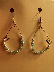 safety pin earring 1