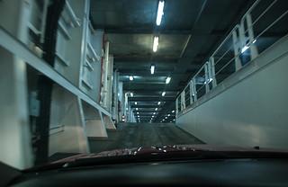 Embarquement sur le ferry au terminal DFDS Seaways de Dunkerque