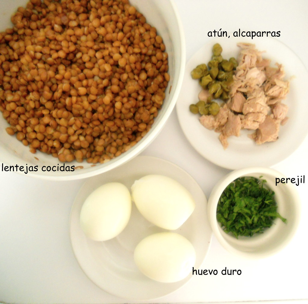 Ingredientes ensalada lentejas