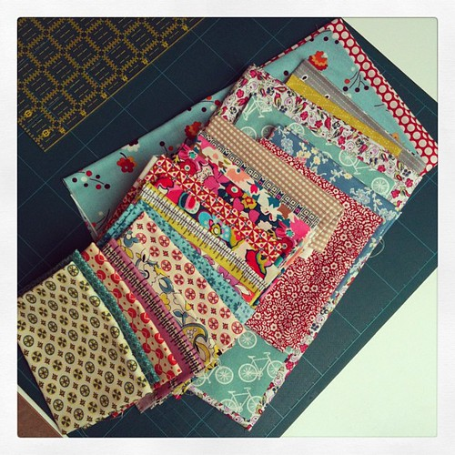 Fabric for border 5 bricks #marcellemedallion #medallionalong