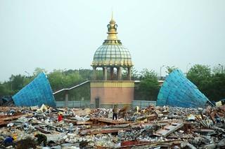 【高清组图】北京烂尾15年亚洲最大游乐园拆除