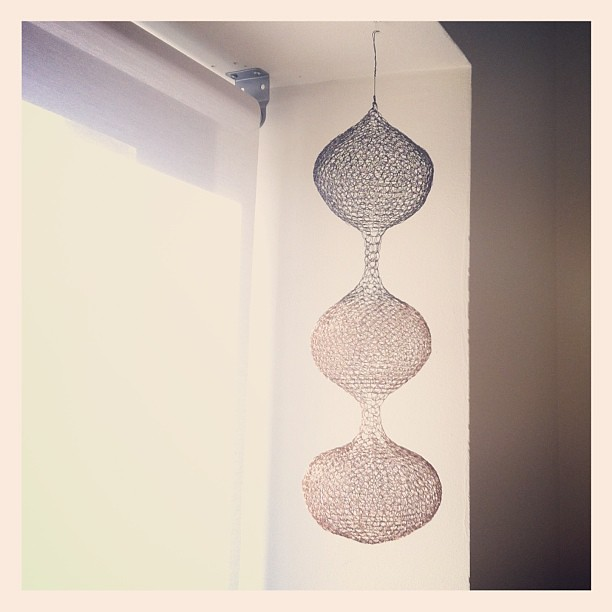 Small Wire Crochet Hanging From Last Year Last Piece Be