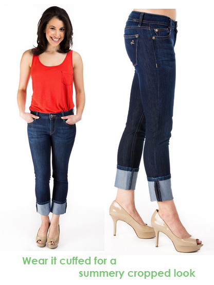 cropped toni jeans