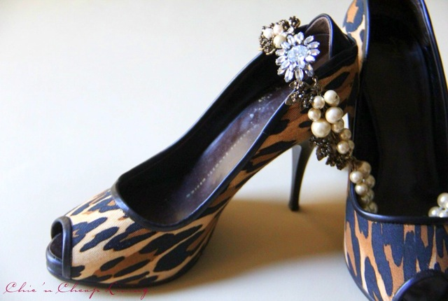 Giuseppe Zanotti leopard shoes with pearls and profile by Chic n Cheap Living