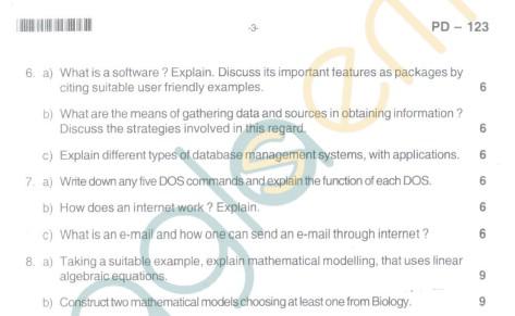 Bangalore University Question Paper Oct 2012:I Year M.Sc. - Mathematics Discrete Mathematics And Fundamentals