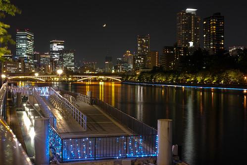 japan night spring may clear 大阪 getty osaka nightview crazyshin nakanoshima crescentmoon 中之島 三日月 2013 dp2m sigmadp2merril 20130513sdi4464 8737143968