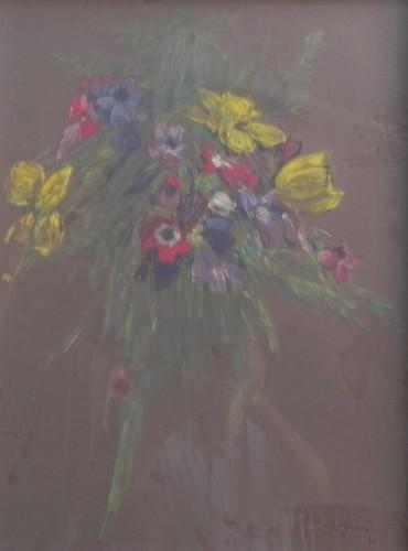 pintura sobre tela flores paso a paso