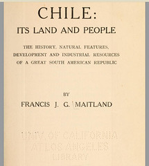 del libro CHILE: Its Land and People de Francis Maitland