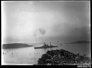 HMS REPULSE in Sydney Harbour