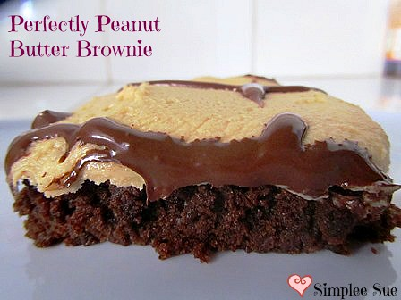 Perfectly Peanut Butter Brownies from Simplee Sue.