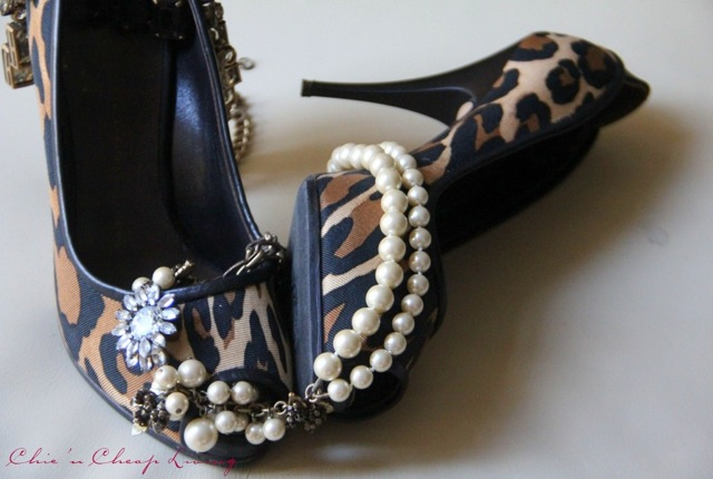 Giuseppe Zanotti leopard shoes with pearls by Chic n Cheap Living