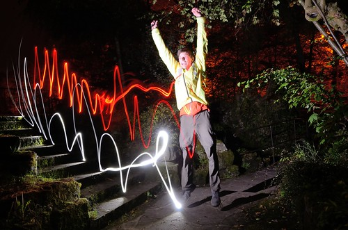 Light painting jump by kewl