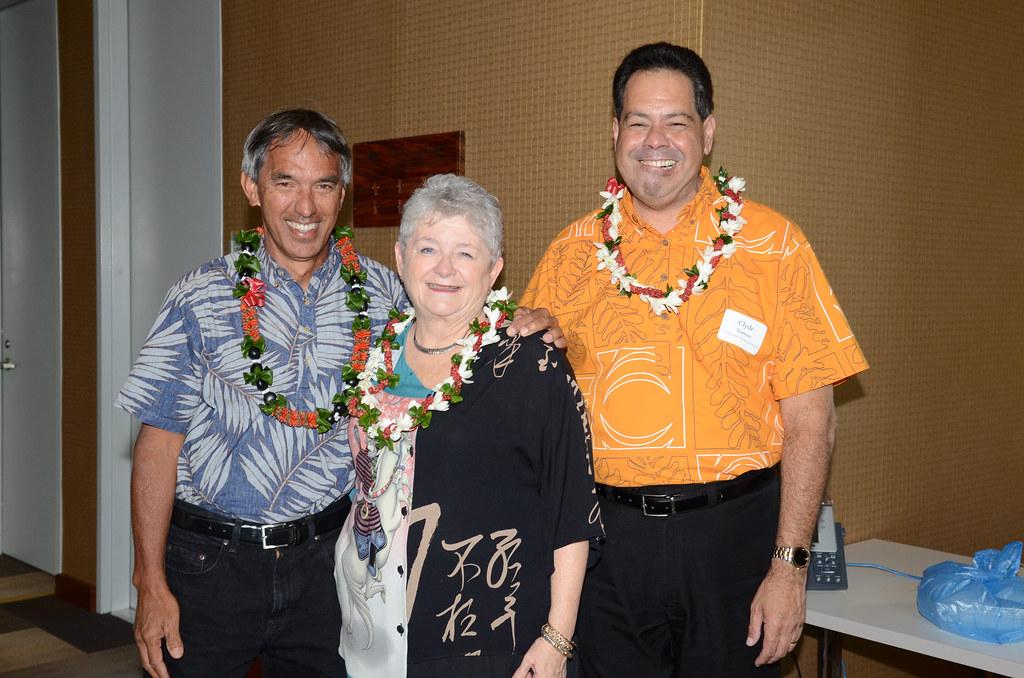<p>Nainoa Thompson, M.R.C. Greenwood, Clyde Namu'o</p>