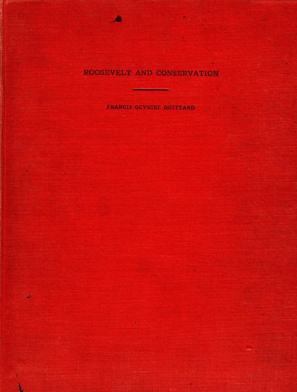 Francis Gevrier Guittard's dissertation, 1931