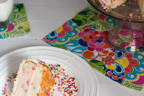 Individual Funfetti Cake