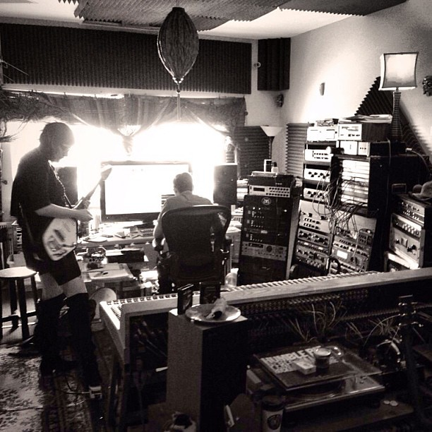 Photo:#guitar tracking with the #peepingtomboys at #bldgs @bacon_invader #vox #recordingstudio By \ \ \ V A C A N T F E V E R