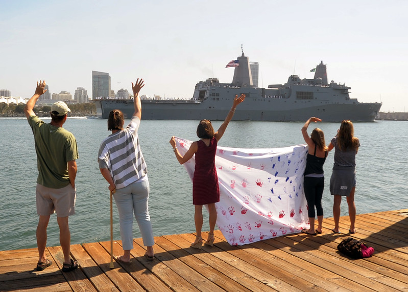 SAN DIEGO - Amphibious transport dock ship USS Green Bay (LPD 20), returns to Naval Base San Diego as part of the Peleliu Amphibious Ready Group (PELARG).