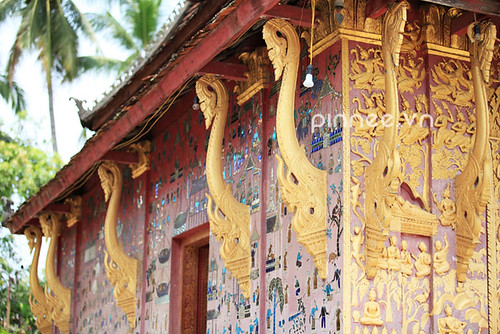Laos Traditional Roof Decoration