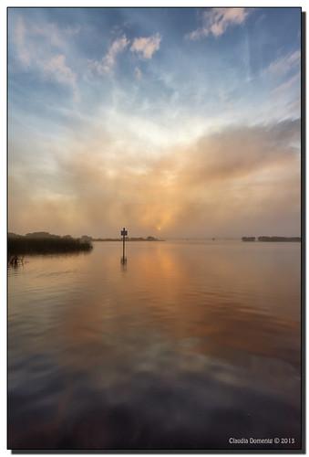 morning sun fog clouds sunrise reflections river florida puntagorda mangroves hdr peaceriver boatramp channelmarker 3exp harbourheights publicboatramp canonef1635mmf28liiusm dphdr harbourheightspark charlotteco