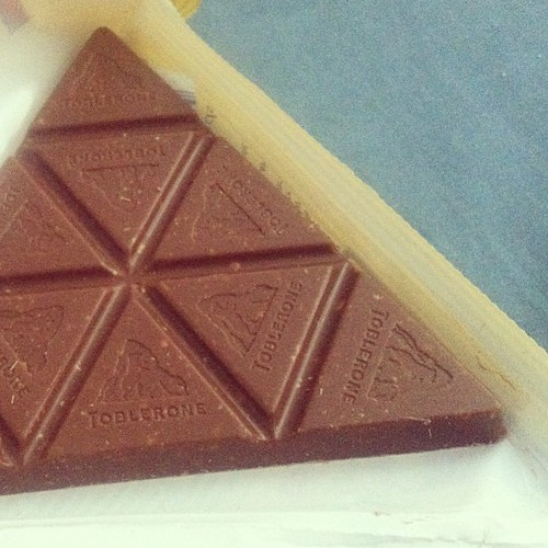 Toblerone. @genecorbito it looks like this, thinner.