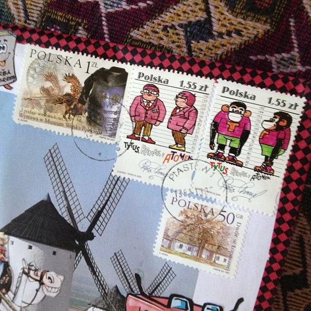 #poland #snailmail #snailmailrocks #postagestamp #stamp #monkey #man