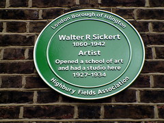 Photo of Walter R. Sickert green plaque