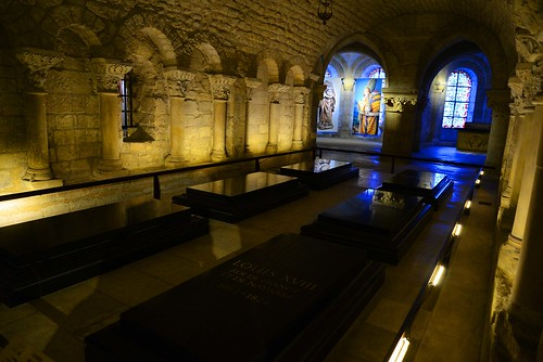 Royal tombs at Saint Denis in Paris, France.