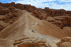 Walking up Masada