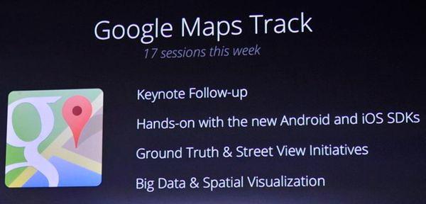 Google Maps track
