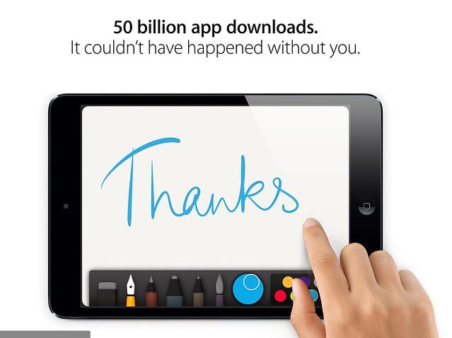 Apple 50 billion app download winner