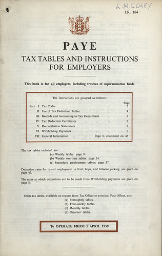 MONTHLY DEDUCTION TABLES