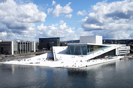 Norwegian National Opera and Ballet, Oslo. Architecture by Snøhetta